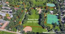 Pioneer Park winter Disc golf course map